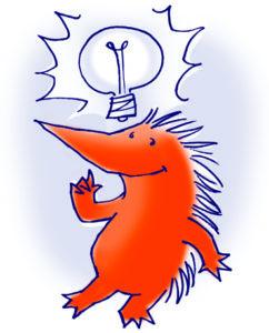 egel met lampje