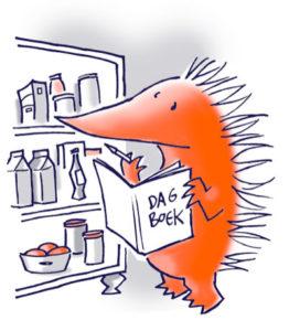 egel met voedseldagboek